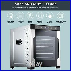 NutriChef Electric Countertop Food Dehydrator 900-Watt Dryer WithDigital Timer
