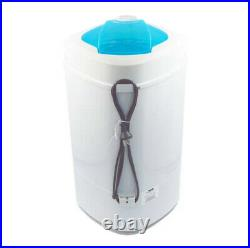 PORTABLE CLOTHES DRYER 0.8 Cu. Ft. Mini Compact Stainless Steel White
