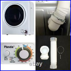 Panda 110V Electric Portable Compact Laundry Clothes Dryer, 1.5 cu. Ft, Stainless