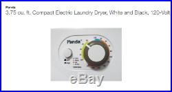 Panda Small Mini Compact Dryer 110V Stainless Steel Drum 1.50 cu ft Stackable