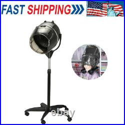 Portable Hair Salon Spa Stand Hair Dryer Timer Bonnet Rolling Base Stand US NEW