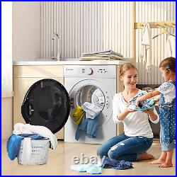 Portable Laundry Dryer with Easy Knob Control Stainless Steel Clothes Dryers
