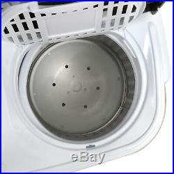 Portable Mini Wash Machine Compact Twin Tub 13lbs Top Load Washer Spin Dryer