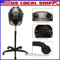 Rolling Salon Hair Blow Dryer Bonnet Hood Stand Hair Dryer US Plug Hot Beauty