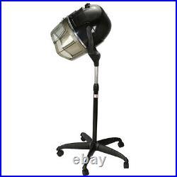 Salon Standing Hair Dryer Bonnet Hood Rolling Base Timer Heat Adjustable US Plug