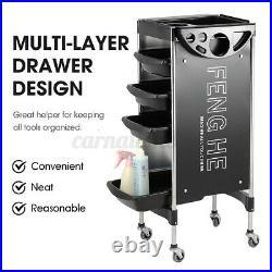 Salon Trolley Storage Cart Coloring Beauty Hair Dryer Holder Stylist Equipment