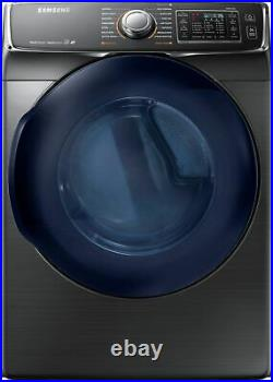 Samsung 7.5 Cu. Ft. Stackable Gas Dryer- Black Stainless Steel