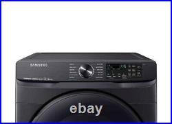 Samsung 7.5 cu. Ft. Smart Electric Dryer -Black Stainless Steel Steam Sanitizer