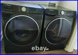 Samsung Black Stainless Steel Front Loading Washer Dryer Work Great Local Pickup