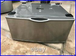 Samsung stainless steel washer and dryer pedestals (2)