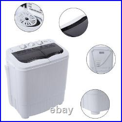 Semi-automatic Portable Washing Machine Twin Tub with Drain Pump Spiner Dryer NEW