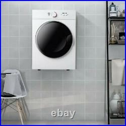 Somubi 6 Cu. Ft. Electric Stackable Dryer with Stainless Steel Tub in White