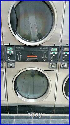 Speedqueen STO30 dryers in Stainless Steel Refurbished