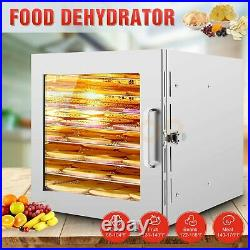 Stainless Steel 8 Trays Fruit Dryer Machine 600W Vegetable Meat Jerky Dryer