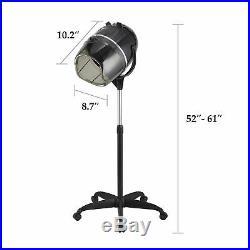 Stand Up Hood Floor Hair Bonnet Dryer Rolling Base Salon Wheels Adjustable