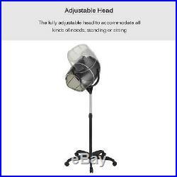 Standing Bonnet Hair Dryer with Timer Swivel Hood Caster Professional Salon