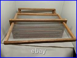 Sun Pantry Oven Fruit Dryer Food Dehydrator 4 Tray Fruit Veg Jerky, Natural EUC