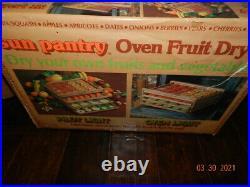 Sun pantry oven fruit dryer Food Dehydrator 4 Tray Fruit Jerky Dryer natural