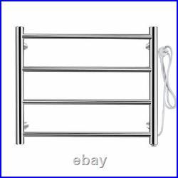 Towel Warmer Electric Heated Dryer Rail Rack Mounted 4 Bars 304 Stainless Steel