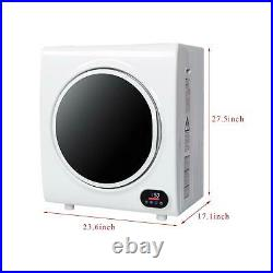 ZOKOP 4kg Tumble Dryer Electric Compact Drying Machine Stainless Steel LCD